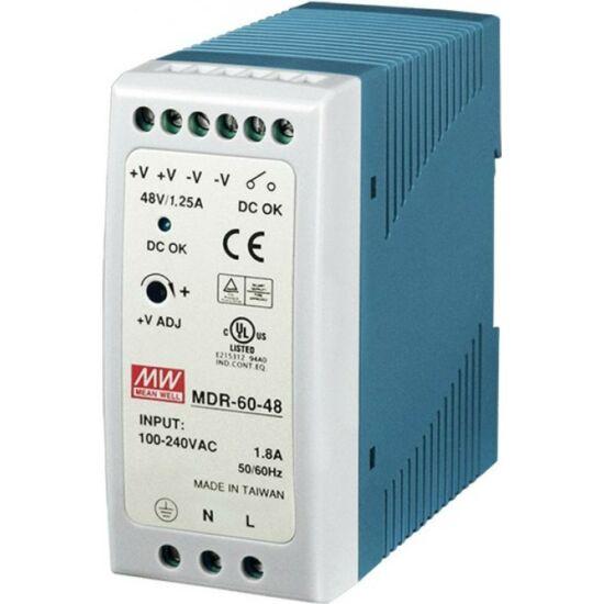 MEAN WELL MDR-60-48 Ipari tápegység; 60 W; 48 VDC; 1,25 A; 85-264 VAC