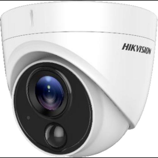 HIKVISION DS-2CE71H0T-PIRLO 5 MP THD fix dómkamera; OSD menüvel; PIR mozgásérzékelővel; riasztás kimenet