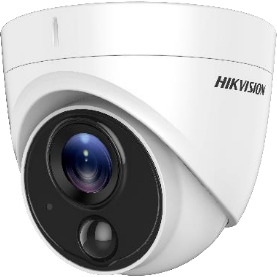 HIKVISION DS-2CE71D8T-PIRLO 2 MP THD WDR fix EXIR dómkamera; OSD menüvel; PIR mozgásérzékelővel; riasztás kimenet