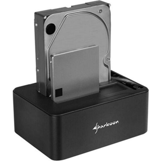 SHARKOON 4044951018970 HDD Dokkoló - QuickPort Duo Clone USB-C