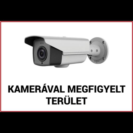 VEZ FTB-KMT01 Kamerával megfigyelt terület műanyag tábla 210x300x