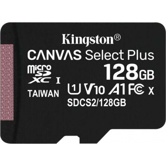 KINGSTON SDCS2-128GB 128GB micro SD kártya; microSDXC; Class 10 UHS-I; adapterrel