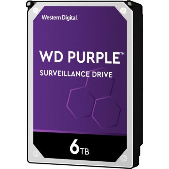 WESTERN DIGITAL WD62PURZ WD Purple; 6 TB biztonságtechnikai merevlemez; 24/7 alkalmazásra; nem RAID kompatibilis