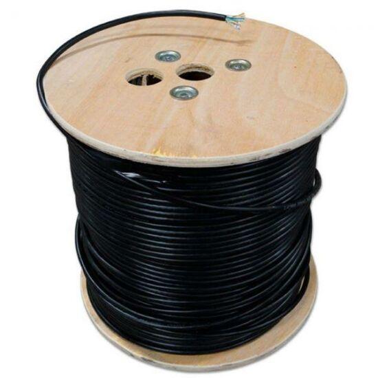 BITNER BITNER-TI0091-500 F/UTP Cat5E kültéri földkábel, PE , 200Mhz, fekete, 500m
